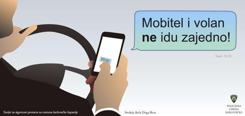 Raste broj vozača koji telefoniraju dok voze iako je kazna 1.000 kuna